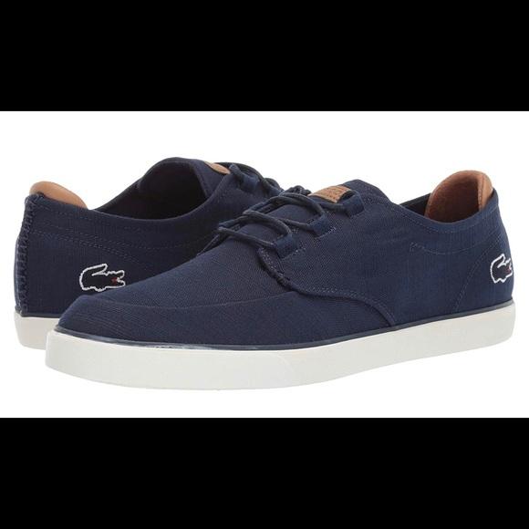Lacoste Shoes   Mens Esparre Deck Sneaker   Poshmark